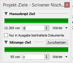 Wordcount_Projektziel festlegen